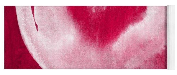 Hot Pink Heart Yoga Mat