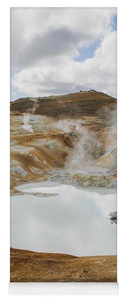Hot Pool In Krafla Iceland Yoga Mat