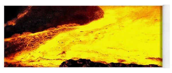 Hot Rock And Lava Yoga Mat