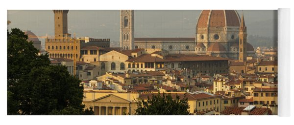 Hot Summer Afternoon In Florence Italy Yoga Mat
