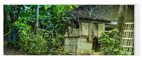 House In Green Jungle Yoga Mat