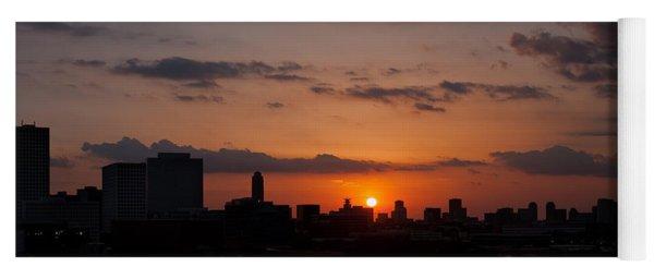 Houston Skyline At Sunset Yoga Mat