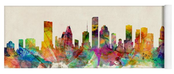 Houston Texas Skyline Yoga Mat