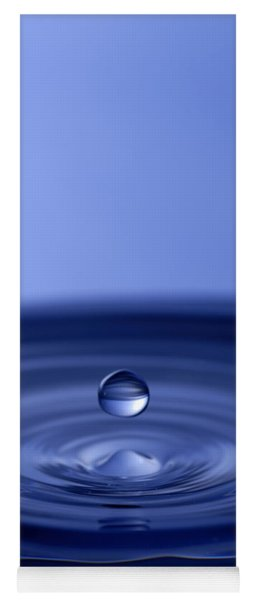 Hovering Blue Water Drop Yoga Mat