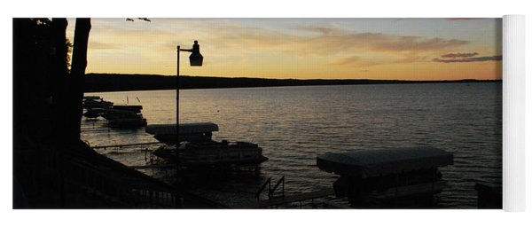 Hubbard Lake Sunset Yoga Mat