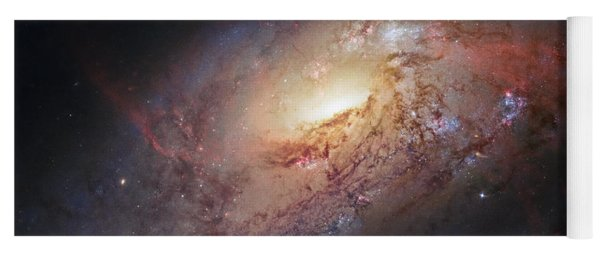 Hubble View Of M 106 Yoga Mat