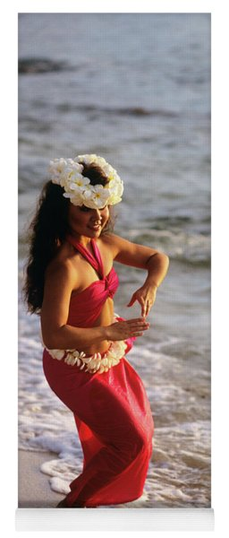 Hula Dancer Hawaii At Waters Edge Surf Yoga Mat