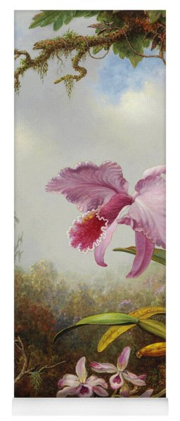 Hummingbird And Two Types Of Orchids Yoga Mat