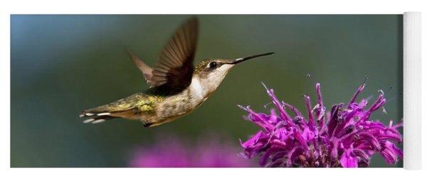 Hummingbird Moving Along Yoga Mat