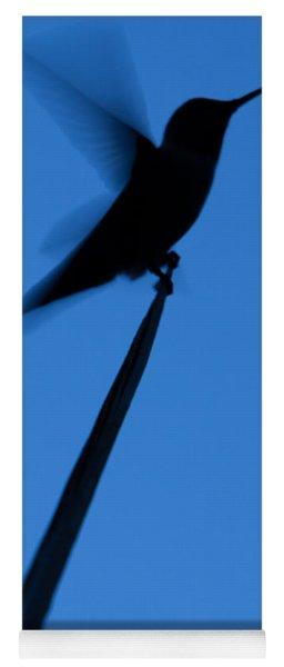 Yoga Mat featuring the photograph Hummingbird Silhouette by John Wadleigh
