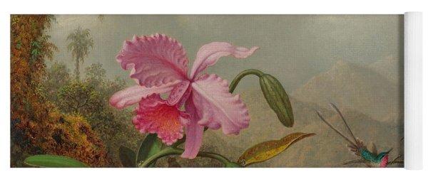 Hummingbirds And Orchids Yoga Mat