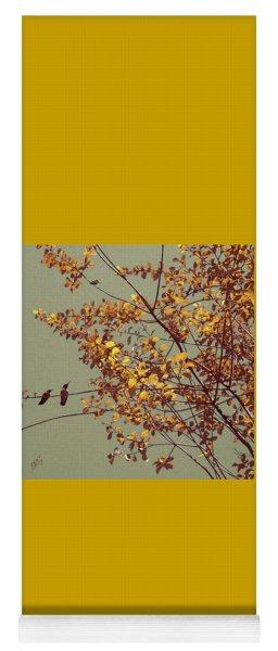 Hummingbirds On Yellow Tree Yoga Mat