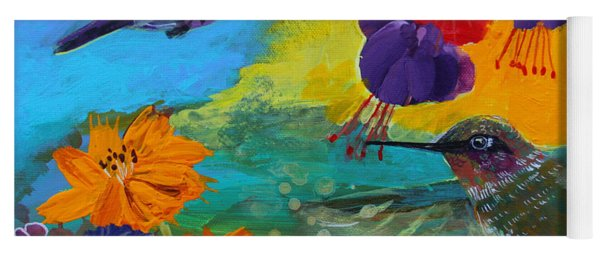 Hummingbirds Prayer Warriors Yoga Mat