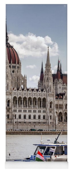 Hungarian Parliament Across The Danube Yoga Mat