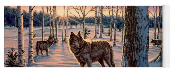 Hunters At Twilight Yoga Mat