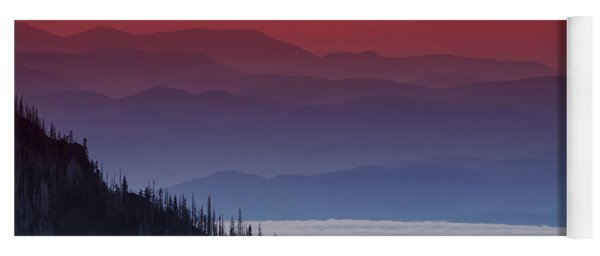 Hurricane Ridge Sunset Yoga Mat