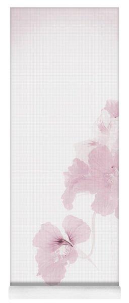 I Like My Nasturtiums Soft And Pink Yoga Mat