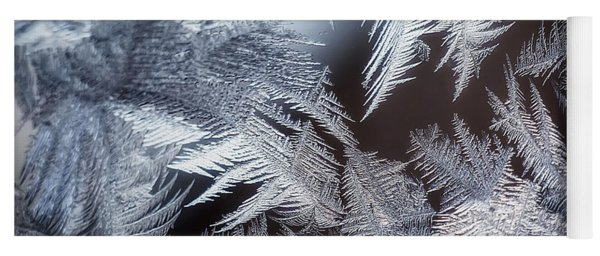 Ice Crystals Yoga Mat