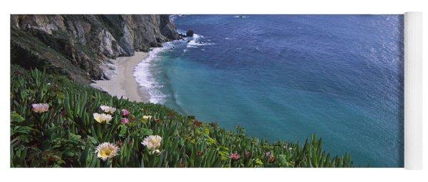 Ice Plants On Big Sur Coast Yoga Mat