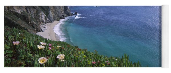 Yoga Mat featuring the photograph Ice Plants On Big Sur Coast by Tim Fitzharris