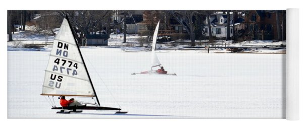 Ice Yacht Race Yoga Mat