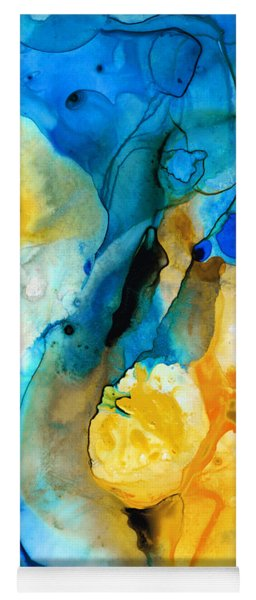 Iced Lemon Drop - Abstract Art By Sharon Cummings Yoga Mat