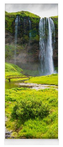 Iceland Seljalandsfoss Waterfall Yoga Mat