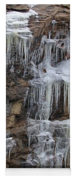 Icicle Cliffs Yoga Mat