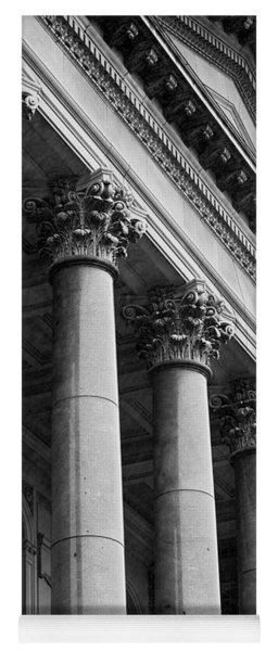 Illinois Capitol Columns B W Yoga Mat