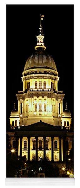 Illinois State Capitol -- Night Yoga Mat