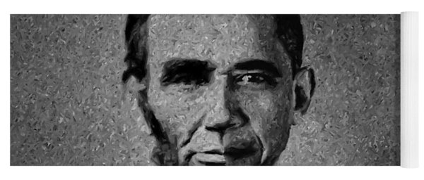 Impressionist Interpretation Of Lincoln Becoming Obama Yoga Mat