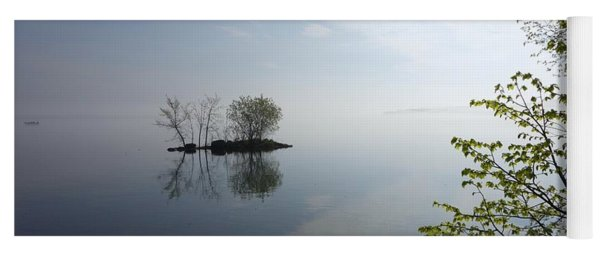 In The Distance On Mille Lacs Lake In Garrison Minnesota Yoga Mat