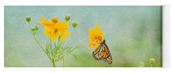 In The Garden - Monarch Butterfly Yoga Mat