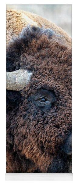 Bison The Mighty Beast Bison Das Machtige Tier North American Wildlife By Olena Art Yoga Mat