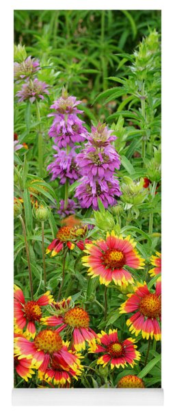 Indian Blankets And Lemon Horsemint Yoga Mat