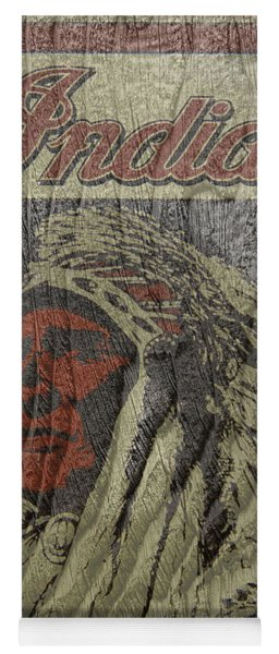 Indian Motorcycle Postertextured Yoga Mat