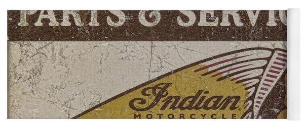 Indian Motorcycle Sign Yoga Mat