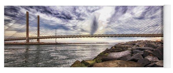 Indian River Bridge Clouds Yoga Mat