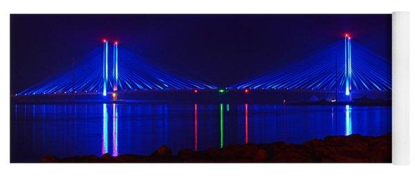 Indian River Inlet Bridge After Dark Yoga Mat