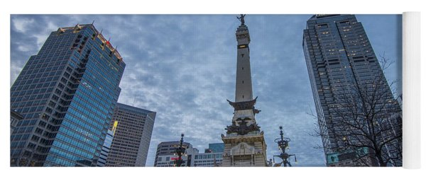 Indianapolis Indiana Monument Circle Blue  Yoga Mat
