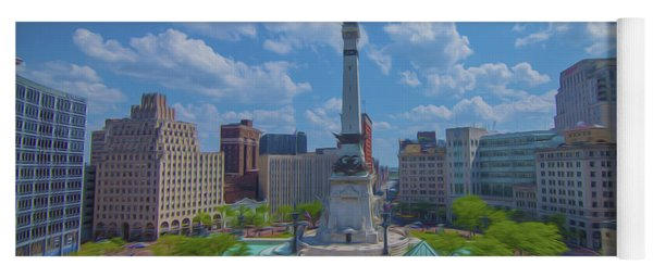 Indianapolis Monument Circle Oil Yoga Mat