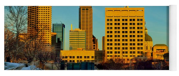 Indianapolis Skyline Dynamic Yoga Mat
