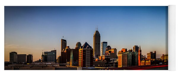 Indianapolis Skyline - South Yoga Mat
