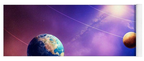 Inner Solar System Planets Yoga Mat
