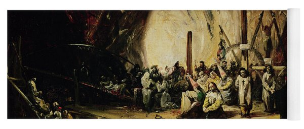 Inquisition Scene, 1851 Oil On Canvas Yoga Mat