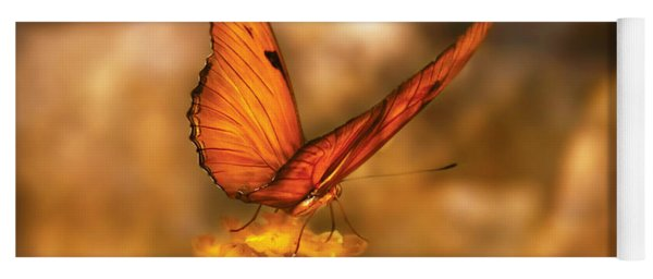 Insect - Butterfly - Just A Bit Of Orange  Yoga Mat
