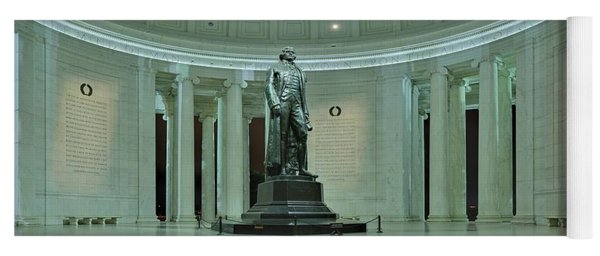 Inside The Jefferson Memorial Yoga Mat