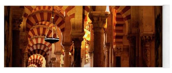 Yoga Mat featuring the photograph Inside The Mezquita by Lorraine Devon Wilke