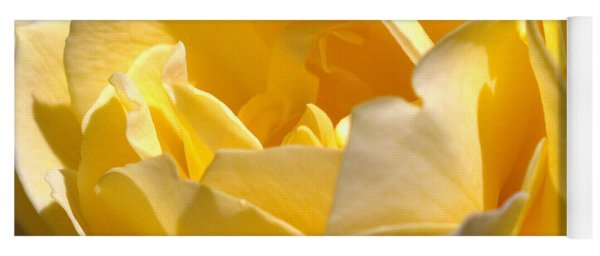 Inside The Yellow Rose Yoga Mat