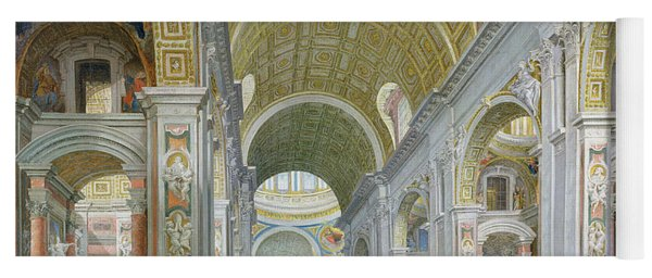 Interior Of St Peters In Rome Yoga Mat